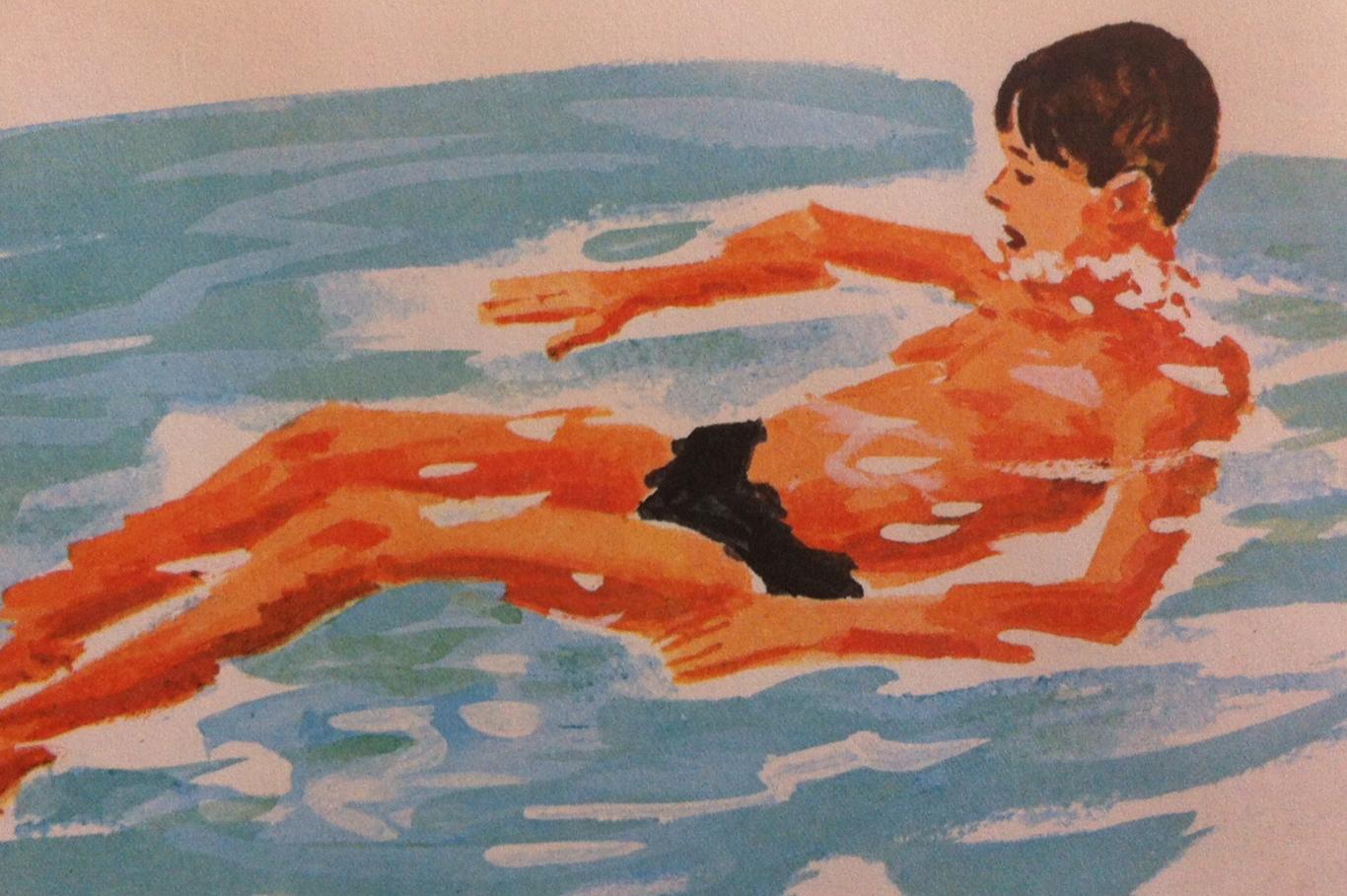 kid float drawing