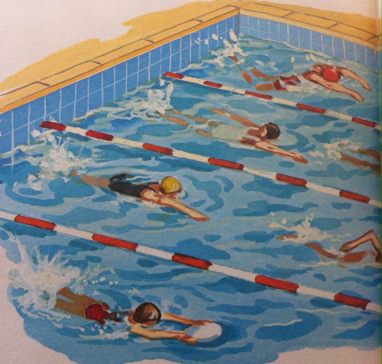 pool scene squad drawing